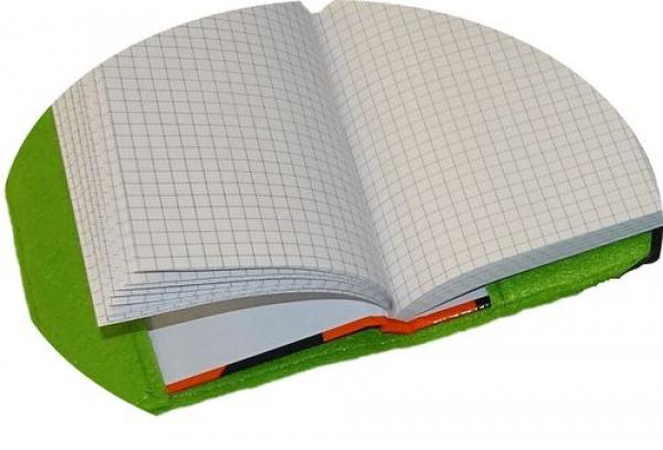 gio shop wollfilz filzumschlag buchumschlag bucheinband notizbuch a5 mit namen. Black Bedroom Furniture Sets. Home Design Ideas